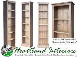 tall narrow bookcase oak solid pine bookcase 6ft tall narrow slim jim