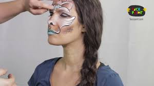 Giraffe Halloween Makeup Glamimal Giraffe Face Painting Tutorial By Shelley Wapniak Youtube