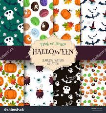 halloween seamless pattern set scary wallpaper stock vector