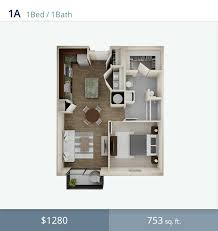 Studio Apartment 3d Floor Plans Alta City West Apartmentwiz
