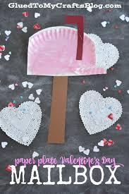 paper plate valentine u0027s day mailbox kid craft glued to my crafts