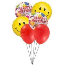 balloon delivery san antonio tx 3 yellow smiley balloons 3 happy birthday balloons balloons