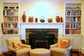 Mantel Bookshelf White Wooden Fireplace Mantel Designs With Bookshelves Surripui Net