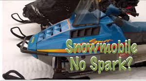 polaris snowmobile no spark or weak spark 1985 1995 youtube