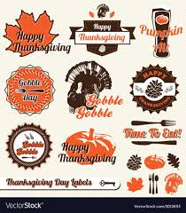 thanksgiving labels thanksgiving day labels royalty free vector image