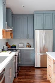 Painted Blue Kitchen Cabinets Blue Color Kitchen Cabinets Kitchen Decoration