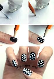how to create polka dot nails nail toenail designs art