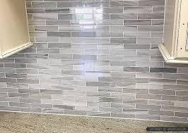 Gray White Some Brown Tones Modern Subway Kitchen Backsplash Tile - Gray backsplash