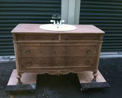Old Dresser Bathroom Vanity Converted Vintage Dresser Into Bathroom Vanity