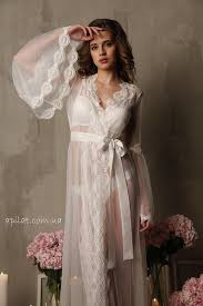 nightgowns for honeymoon lace trimmed tulle bridal robe f10 nightdress ivory