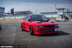subaru red 555 horses of widened fury speedhunters