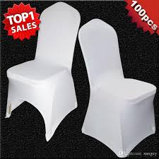 wholesale chair covers universal white polyester spandex wedding chair covers for