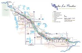 Fort Collins Colorado Map by Maps Cache La Poudre River National Heritage Area