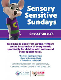 chuck e cheese goes nationwide with sensory friendly sundays for