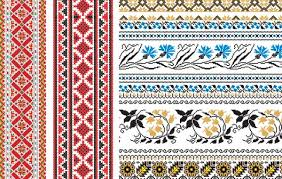russian embroidery ornament vector free