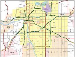 map of tulsa tulsa ok map
