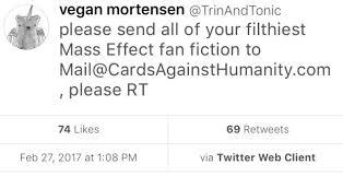 Mass Effect Kink Meme - vegan mortensen on twitter please send all of your filthiest mass