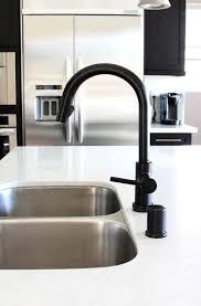 matte black kitchen faucet delta faucet 4159 bl dst signature single handle pull out kitchen