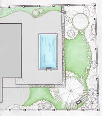 landscaping backyard master plan 2d pencil sketch u2014 stock photo