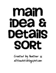 main idea u0026 details game by heather schneider teachers pay teachers
