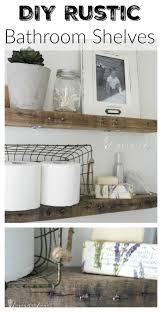 bathroom shelve diy rustic bathroom shelves seeking lavendar lane