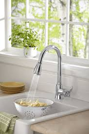 shining kitchen faucets high end tags single handle pulldown