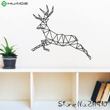 aliexpress com buy geometric reindeer wall decal sticker running aliexpress com buy geometric reindeer wall decal sticker running deer wall art stickers for kids room boys bedroom nursery home decor mural a347 from