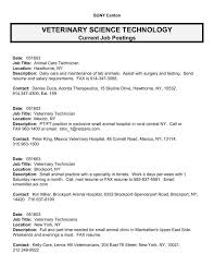 Veterinarian Resume Examples Veterinary Assistant Resume Samples Resume Examples Veterinary