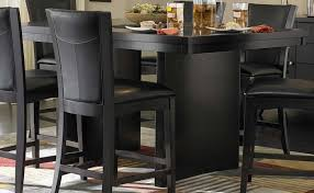 Counter Height Dining Table Black Concept Home Furniture - Counter height dining table in black