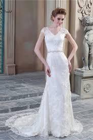 cap sleeve wedding dress sheath v neck cap sleeve sheer back lace wedding dress with pearls