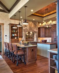 Blue Kitchen Island Cabin Kitchen Ideas Kitchen Rustic With Blue Kitchen Island