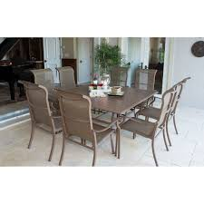 panama jack island breeze 9 piece aluminum patio dining set with