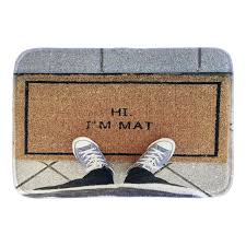 aliexpress com buy funny doormats with phtoto of hi i u0027m mat