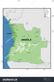 angola physical map physical map angola stock illustration 148309013