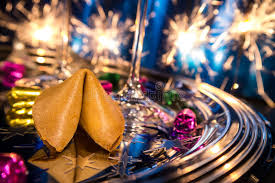 new year s fortune cookies fortune cookie on new year s stock photography image 35019862