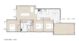 Home House Plans New Zealand Ltd by Oreti Three Bedroom House Plan From Project Homes New Zealand