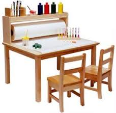 art table with storage preschool art easels classroom daycare arts and crafts supplies