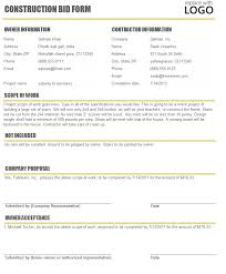 28 free construction proposal template free construction job