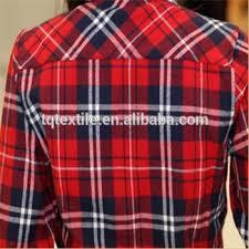 plaid checks printed cotton flannel fabric stocklot cotton flannel