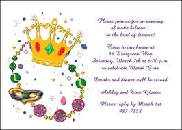 customized mardi gras mailing your custom mardi gras crown party invitations adds some