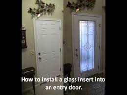 exterior glass door inserts entry glass insert youtube
