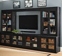 glass cabinet doors for entertainment center reynolds glass cabinet media suite with glass door towers