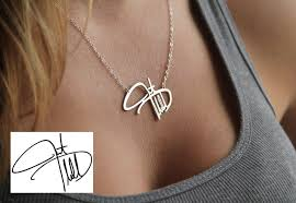 silver jewellery name necklace images Memorial necklace personal signature necklace silver jpg