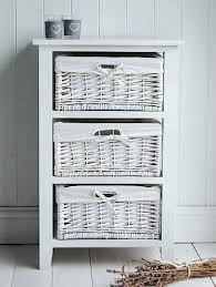 Storage Units Bathroom Wicker 3 Drawer Storage White Wicker Bathroom Storage Drawers Wire