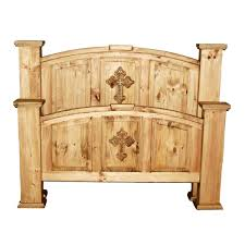 Rustic Bedroom Furniture Million Dollar Rustic 02 1 10 02 Mansion Cross Accented Bed The Mine