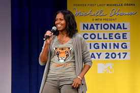 michelle obama celebrates college signing day teen vogue