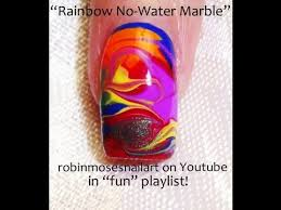 rainbow drag marble nails no water needed tutorial youtube