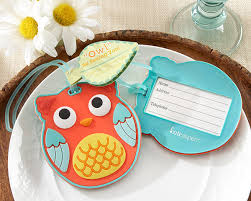 owl luggage tag whimsical favors by kate aspen