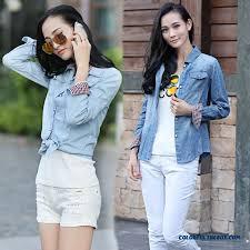 rcheap clothes for women cheap women clothing european style slim and thin light blue denim