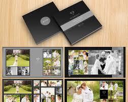 photo album 12x12 12x12 square wedding album template 20 pages gold